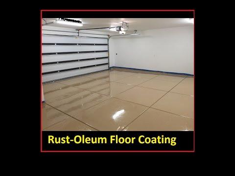 DIY Rust-oleum floor coating Epoxy/Polycuramine Rock Solid revestimiento de resina de piso - Concrete Floor Pros