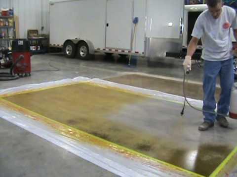 TERRCO INC. Dyeing and Polishing Concrete Demo - Concrete Floor Pros