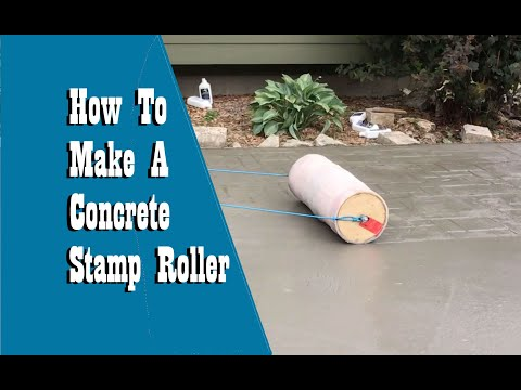How To Build A Concrete Roller Stamp EASY!!! - Concrete Floor Pros