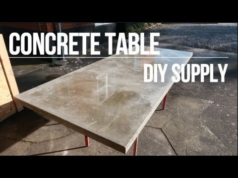 DIY Concrete Table - Concrete Floor Pros