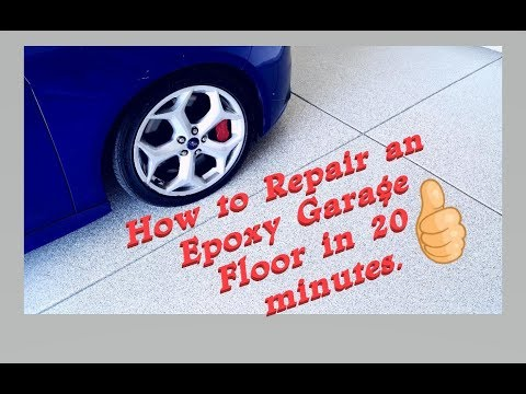 How to repair Epoxy Garage Floor Intricate Coatings - Concrete Floor Pros