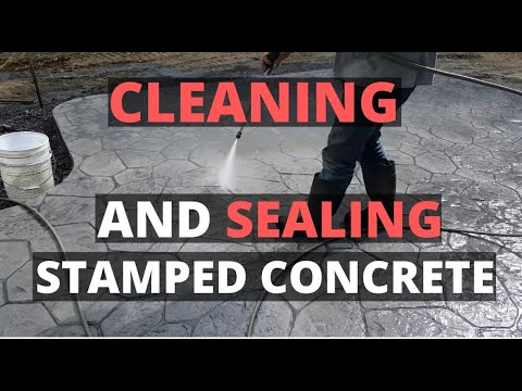 How To Clean And Seal A Stamped Concrete Patio (New or Old) - Concrete Floor Pros