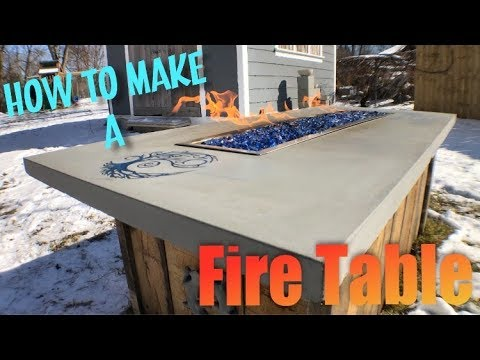 How to make a FIRE PIT / FIRE TABLE Concrete Countertop